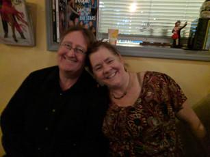 Mark and Sharon enjoy a break from Salsa!