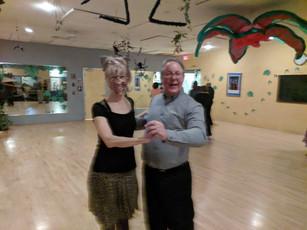 Richard with Kitty doing a Tango