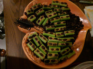 Ants on a log with side of Centipede