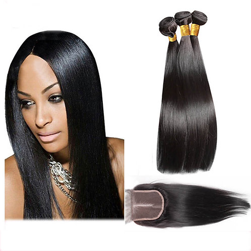 "Closure - 8A-Grade Virgin Brazilian Hair | Straight - 10"" to 18"""