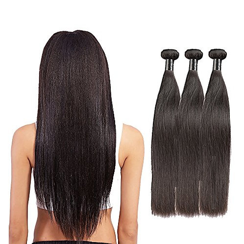 "8 A-Grade Virgin Brazilian Hair | Straight Hair - 10"" to 28"" 3 Bundles"