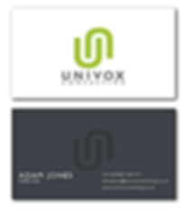 Univox Consulting business cards