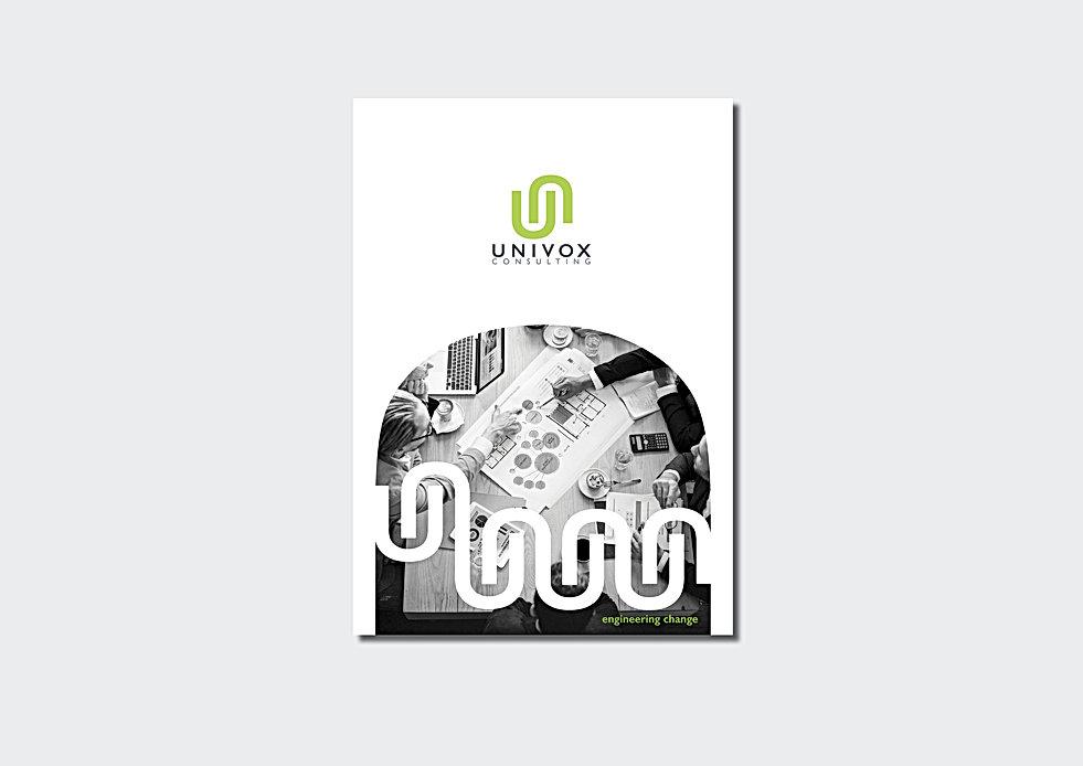 Univox brochure for ws on grey backgroun