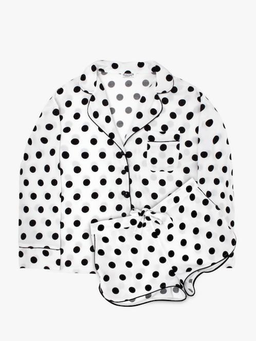 Dots on Snow Pajama Set with Shorts