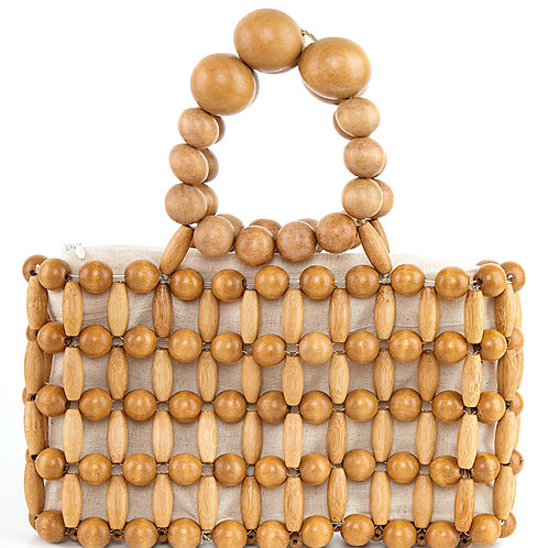 Cult Gaia Cora Clutch natural Bamboo/Wood