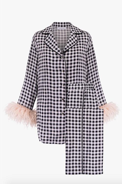 """""""Bonne Année!"""" Vichy Pajama Suit"""