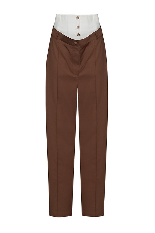 OLENICH tencel pants with cotton corset