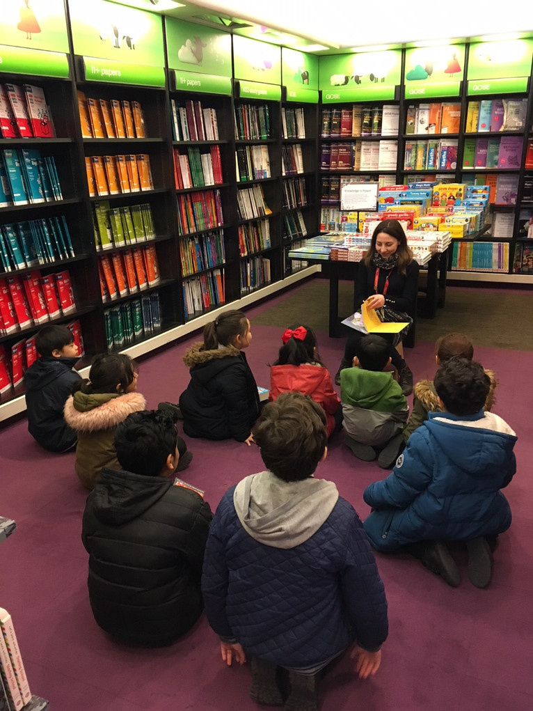 Waterstone's visit for World Book Day Winnrers