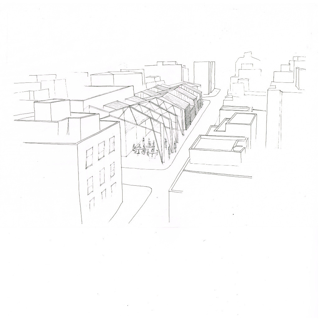 a market as a roof. 2014