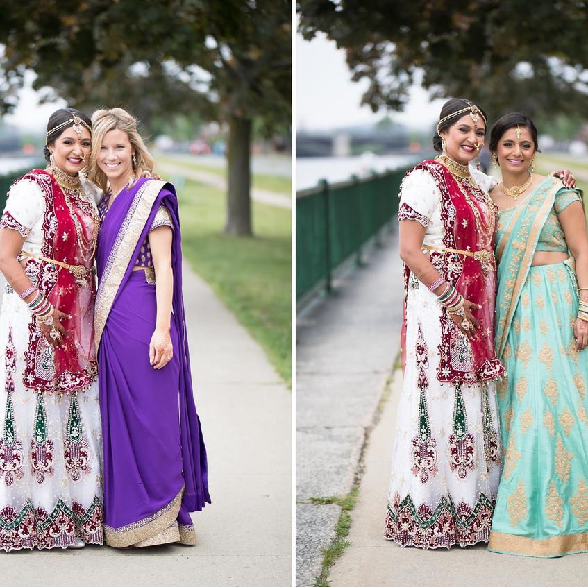 disha with purvi and bridesmaid