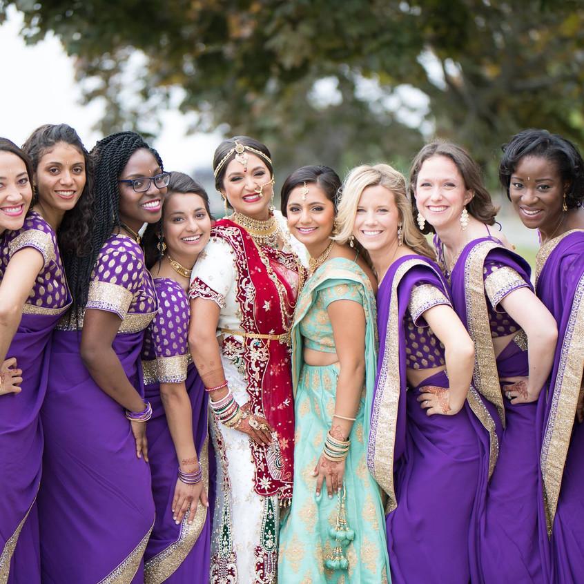 disha with bridesmaides