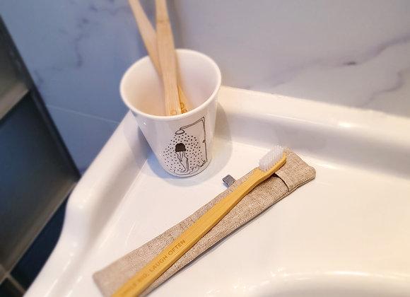 Pochette brosse à dents Lin