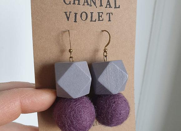 Boucles d'oreilles Chantal Violet