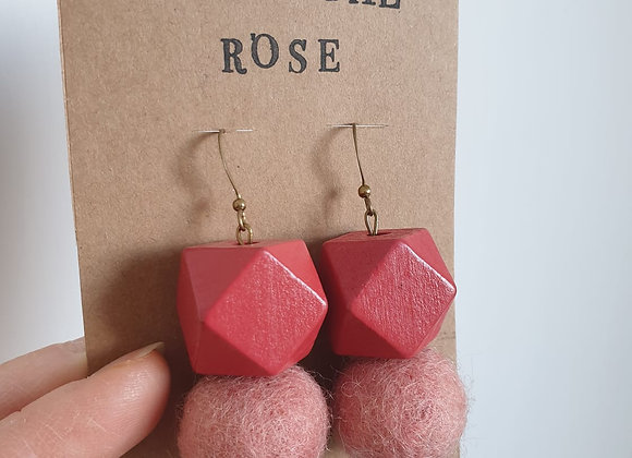 Boucles d'oreilles Chantal Rose