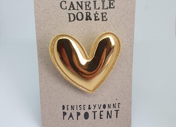 Broche Canelle Dorée