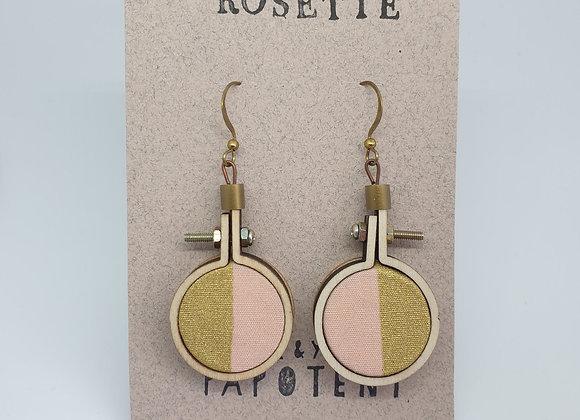 Boucles d'oreilles Rosette