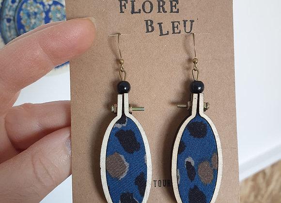 Boucles d'oreilles Flore bleu