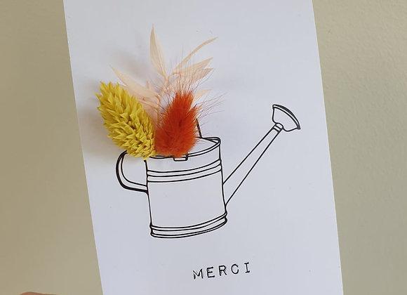 Carte Fleurie Merci 1