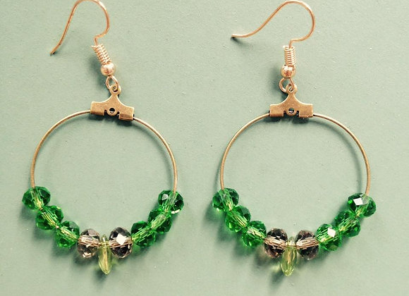 Boucles d'oreilles Clotilde vert