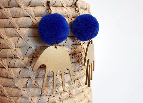 Boucles d'oreilles Alex bleues