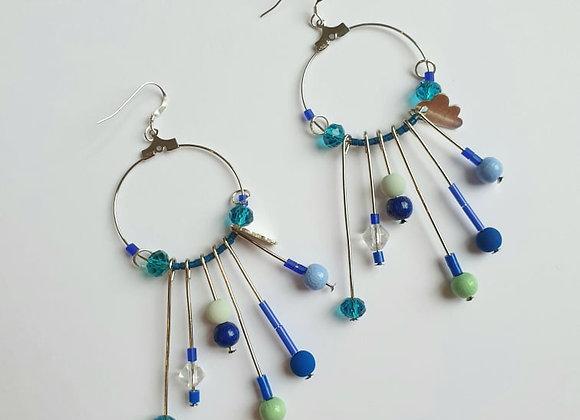 Boucles d'oreilles Belle Souk bleu
