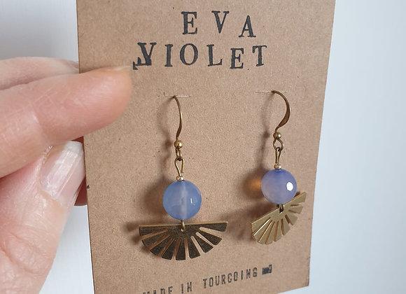 Boucles d'oreilles Eva Violet