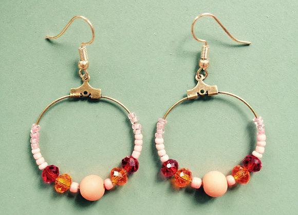 Boucles d'oreilles Clotilde rose