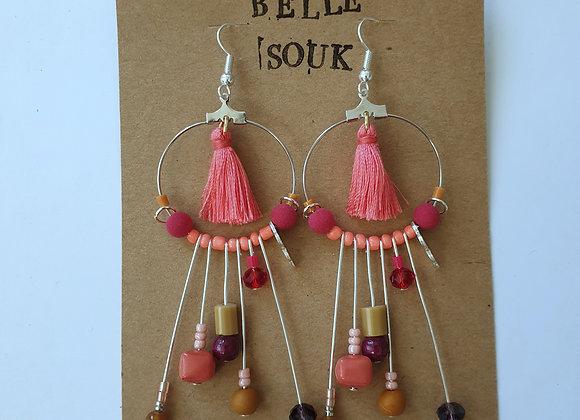 Boucles d'oreilles Belle Souk rose