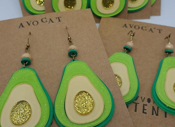 Boucles d'oreilles Avocat