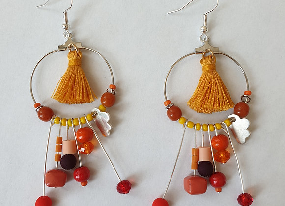 Boucles d'oreilles Belle Souk orange