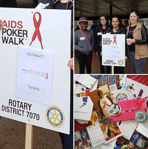 The Rotaract Club of Toronto at the Rotary AIDS Poker Walk in Spring 2017