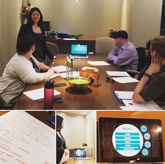 A snapshot of the Professional Development Committee's Peer Workshop Series