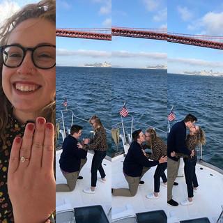 She said yes! #shanutski #sanfranciscoba