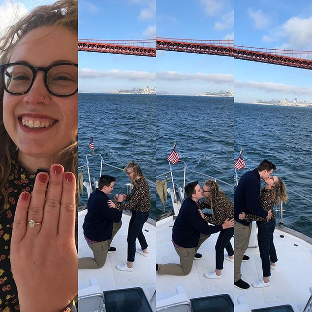 She said yes! #shanutski #sanfranciscoba