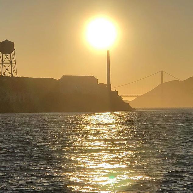 Sunset tour #nofilter #goldengate #sanfr