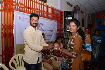 Distribution of Shudhu Tablets wockhardt foundation NGO