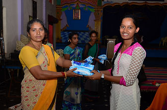 Distribution of Napkins wockhardt foundation NGO