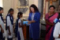 Distribution of Sanitary Napkins wockhardt foundation NGO