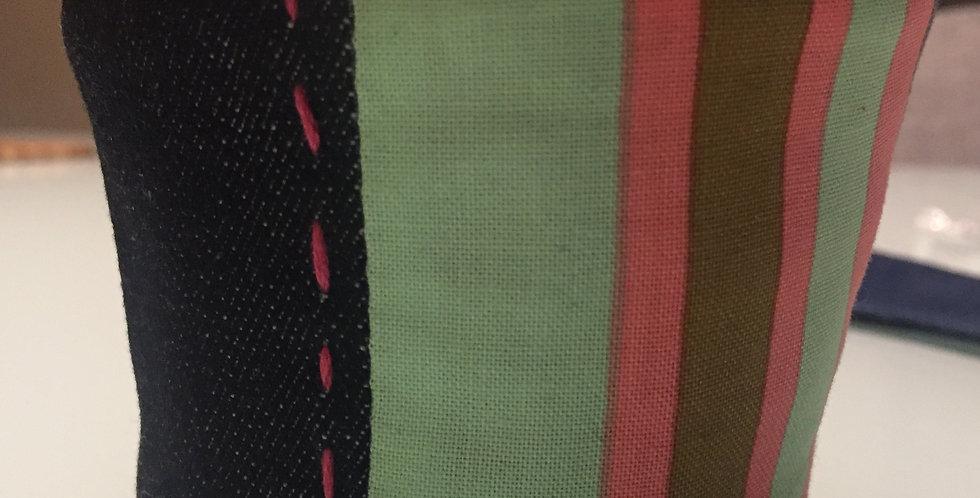 Java Jacket - Green Striped Denim