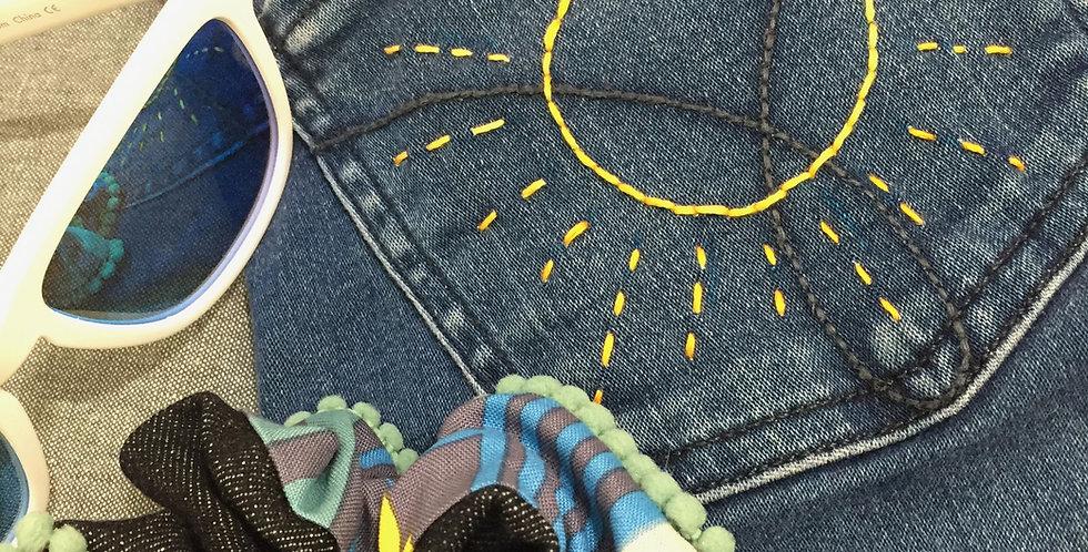 Blue Striped Scrunchie