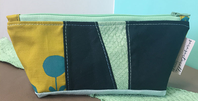 Cosmetic Bag - Green & Teal