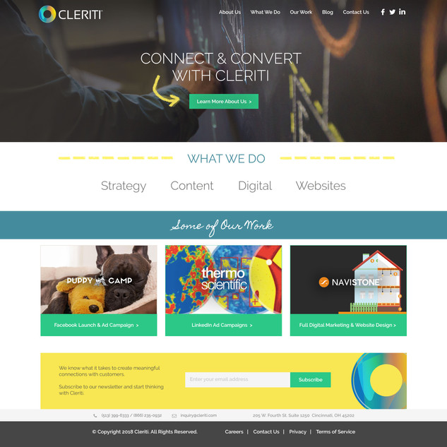 Cleriti Website Design