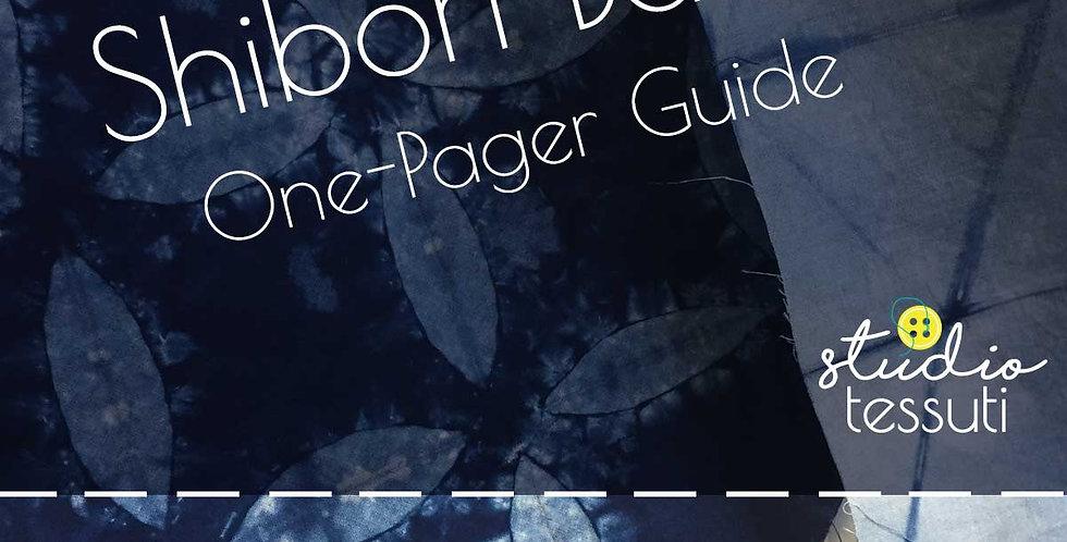 Shibori Basics One-Pager
