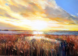 Evening sunset at Sandbanks Poole