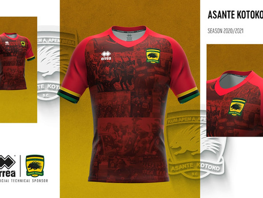 HISTORY, TRADITION AND PRIDE INSPIRE THE NEW KITS PRODUCED BY ERREÀ FOR ASANTE KOTOKO S.C.