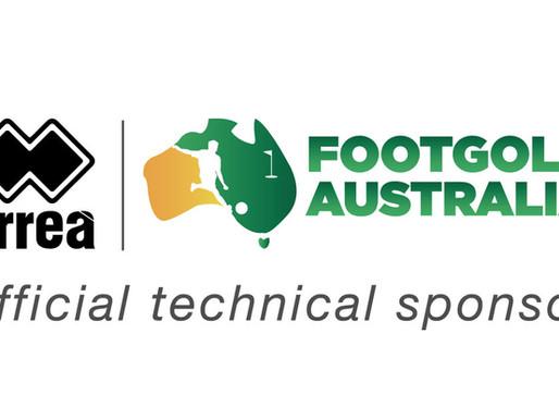 SPONSORSHIP AGREEMENT. ERREÀ AUSTRALIA: FOOTGOLF AUSTRALIA OFFICIAL TECHNICAL SPONSOR