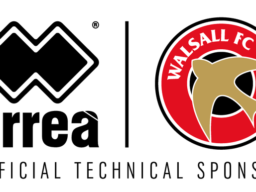 ERREÀ SPORT ANNOUNCES THE RENEWAL OF ITS TECHNICAL SPONSORSHIP WITH WALSALL F.C.