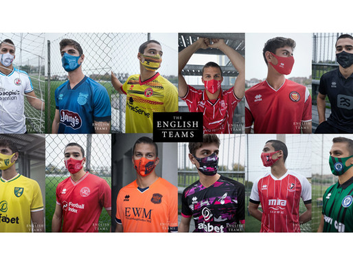 THE ENGLISH TEAMS: JERSEY + MASK EDITION, THE FACE OF MODERN FOOTBALL