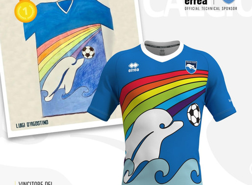 """THE PESCARA FOOTBALL CONTEST """"DRAW A SPECIAL DOLPHIN SHIRT"""" IS A HUGE SUCCESS"""