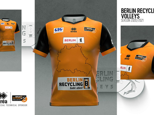 ERREÀ SPORT AND BERLIN RECYCLING VOLLEYS PRESENT THE NEW STYLISTICALLY REMODELLED KITS
